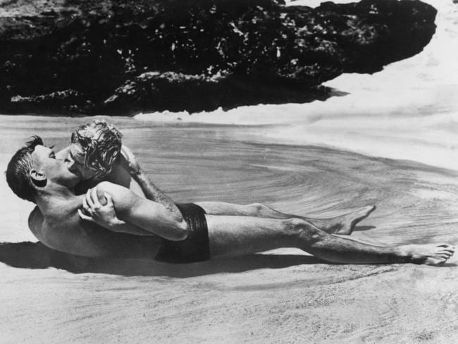 Burt Lancaster and Deborah Kerr in From Here to Eternity. Picture: Getty Images