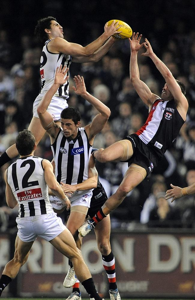 Collingwood leapt higher than St Kilda again in 2011.