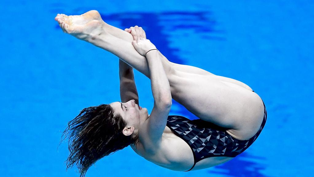 Maddison Keeney during the 1m Springboard event in Hungary.