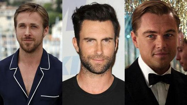 Ryan Gosling, Adam Levine and Leo DiCaprio