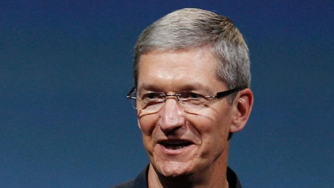 Apple's shares dropped after CEO Tim Cook debuted the iPhone 4S. Picture: AP