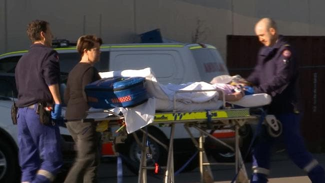 A 6-year-old girl has been transported to hospital in a serious condition after she was allegedly found hanging from play equipment in Sydney's west. A Picture: TNV News