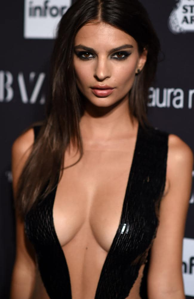 Emily Ratajkowski puts herself out there. Picture: Dimitrios Kambouris/Getty Images for Harper's Bazaar