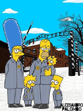 The Simpsons sketched as Jews. Picture: aleXsandro Palombo