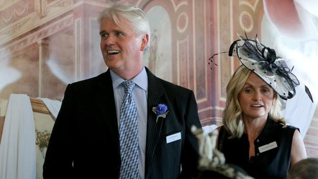 NBN chief executive Bill Morrow during Derby Day at Flemington Race Course. Picture: Stuart McEvoy/The Australian