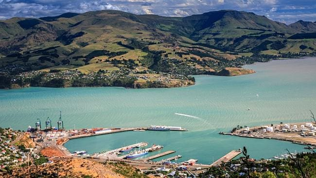Aerial view of pretty Lyttelton in Christchurch. Not a bad view at all. Picture: Thinkstock
