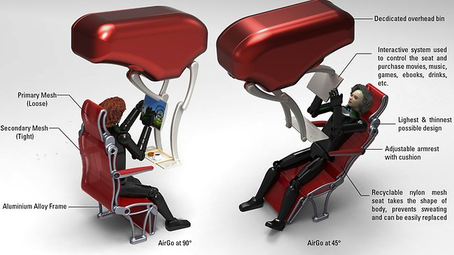 The AirGo seat. Picture: Alireza Yaghoubi