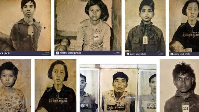 Images of killing fields genocide victims sold online by stock photo agencies for profit.