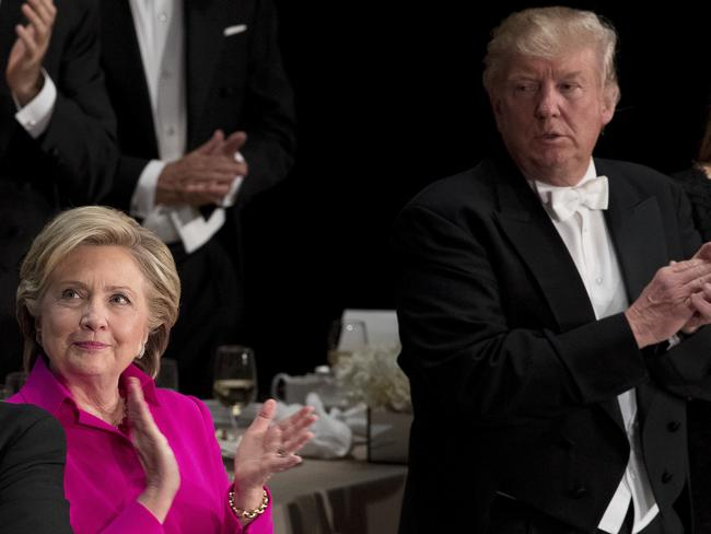 These days, the pair are more hostile. Pictured, a New York charity gala on October 20. Picture: Andrew Harnik/AP