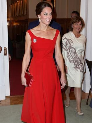 Catherine, Duchess of Cambridge attends a reception at Government House in Victoria, Canada in 2016. Picture: Chris Jackson/Getty Images
