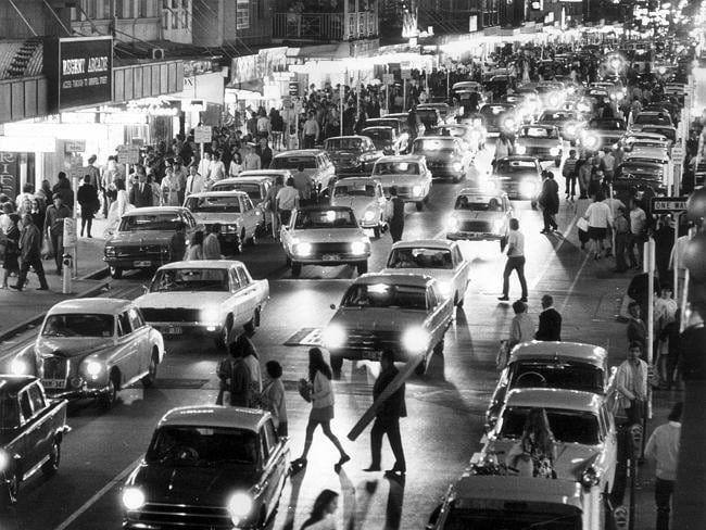 ... And another view of traffic in Rundle St, before it became the Mall, this time taken in 1970.