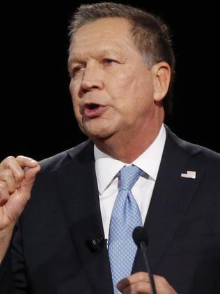 He's toxic ... Republican presidential candidate, Ohio Governor John Kasich says Donald Trump is creating a toxic environment. Picture: AP