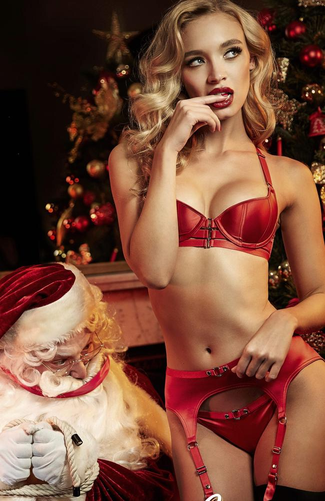 This Honey Birdette ad showing a gagged Santa was deemed inappropriate and had to be pulled in 2015.