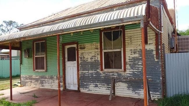 This cute cottage in the mining town of Broken Hill is listed for $25,000. Picture: realestate.com.au