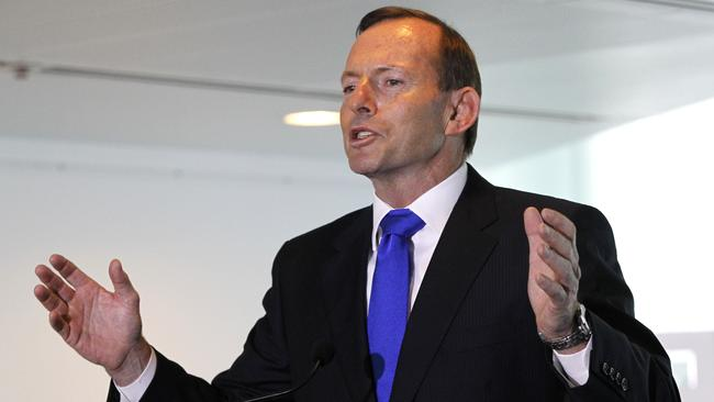 Open for discussion ... Tony Abbott was ready for tough questions as he hit the airwaves today.