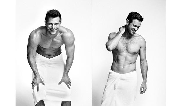 Chris and Matt know how to work a towel.