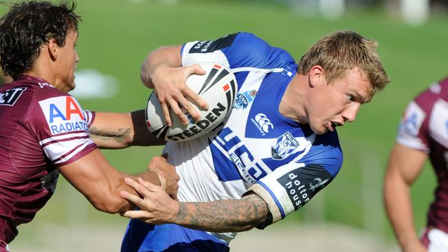 Trent Hodkinson playing NSW Cup for the Bulldogs.