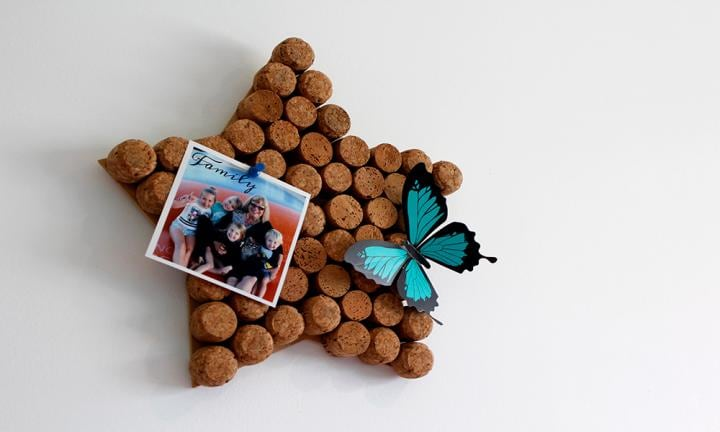 DIY corkboard using recycled old corks