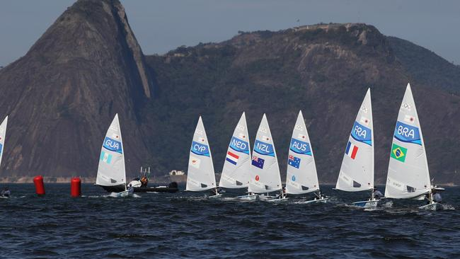 The sailing at the Rio Olympics. Picture: Brett Costello