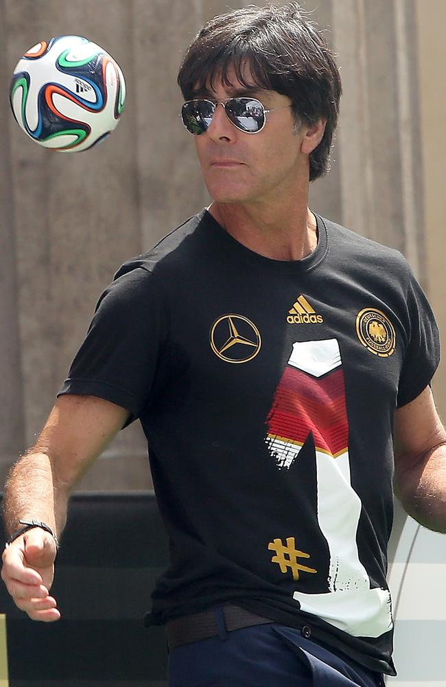 Germany coach Joachin Loew at the reception for team in Berlin.