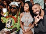 Lil Wayne, Nicki Minaj, and Drake attend the 2017 Billboard Music Awards at T-Mobile Arena on May 21, 2017 in Las Vegas, Nevada. Picture: Getty