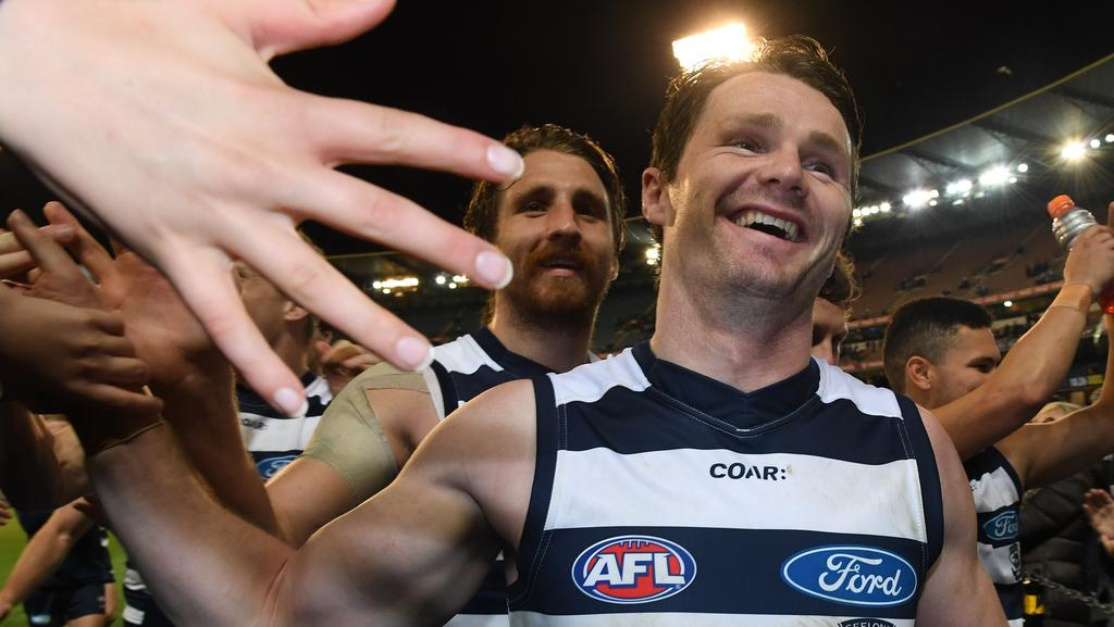 Patrick Dangerfield will be heading to Adelaide to take on some old friends for a spot in the Grand Final. Picture: Julian Smith, AAP Image