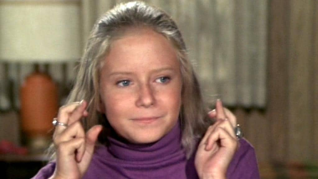 Eve Plumb in her role as Jan Brady in The Brady Brunch.