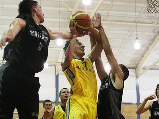 Anthony Drmic in action during Australia v New Zealand basketball game during the Youth Olympics at the Sydney University Sports and Aquatic Centre in Sydney.