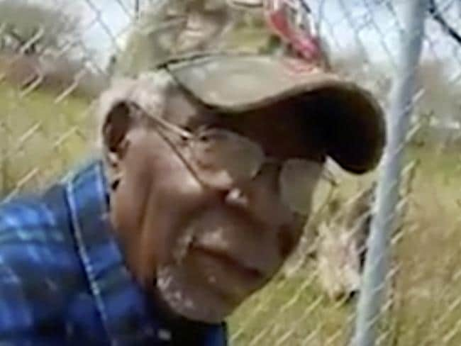 A frame from video posted on Facebook shows Robert Godwin Sr in Cleveland moments before being fatally shot. Picture: Facebook via AP