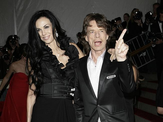Celebrity couple ... L'Wren Scott and Mick Jagger arrive at the Metropolitan Museum of Art Costume Institute Gala in New York in May 2007.