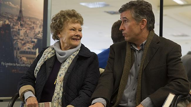 Oscar nominated Judi Dench and Steve Coogan in a scene from Philomena.