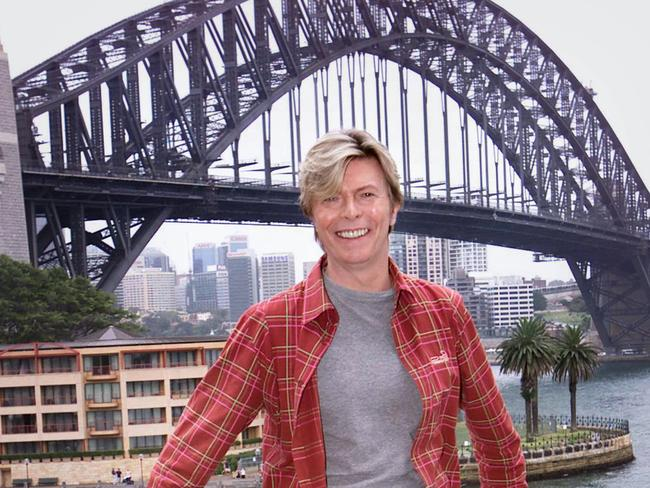 Loved our great southern land ... Singer David Bowie in Sydney in 2004.