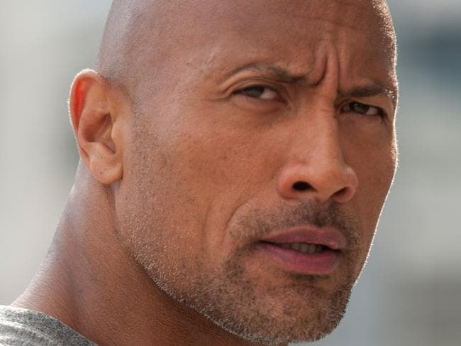 Still frame from the movie San Andreas starring The Rock Dwayne Johnson.