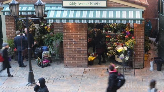 Owner of the Eddy Avenue Florist Manuel Theoharis reopens his central station shop after police shot an attacker in his shop. Picture: John Grainger