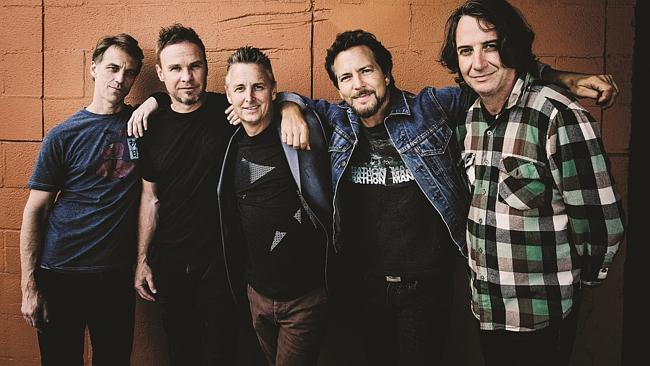 Rocking on ... Pearl Jam are playing at the Big Day Out.