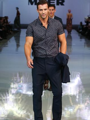 Kris Smith models a casual look from Blaq. Picture: Brendon Thorne/Getty Images