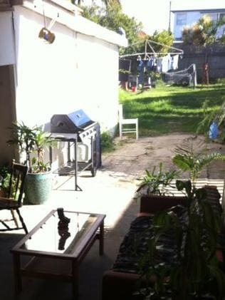 So much potential: the large rear yard at 28 Griffin Rd.