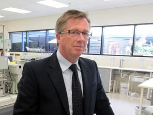 Mayne Pharma CEO Scott Richards in the Mayne Pharma labs in Adelaide.