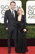 Dax Shepard and Kristen Bell attend the 74th Annual Golden Globe Awards at The Beverly Hilton Hotel on January 8, 2017 in Beverly Hills, California. Picture: Getty
