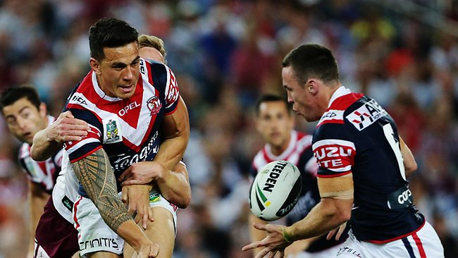 Sonny Bill Williams in action for the Sydney Roosters in the NRL Grand Final.