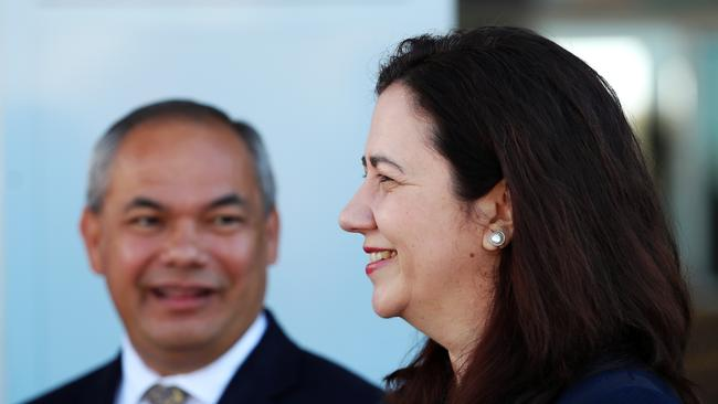 Gold Coast Mayor Tom Tate and Queensland Premier Annastacia Palaszczuk are both working to woo new productions to the Gold Coast. Picture: Nigel Hallett