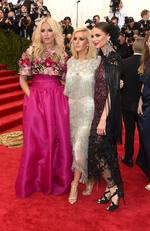 """Keren Craig, Ellie Goulding and Georgina Chapman attend the Met Gala 2015 """"China: Through The Looking Glass"""". Picture: Getty"""