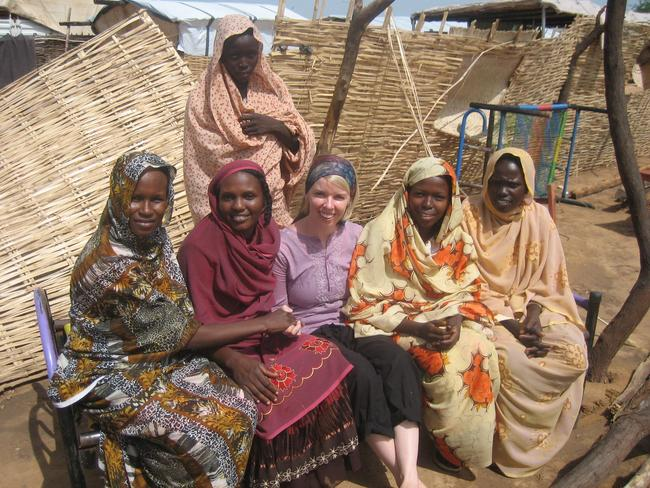 Goes wherever she is needed in time of crisis ... Red Cross Australia worker Ruth Jebb with women in Chad during a cholera outbreak in 2011.
