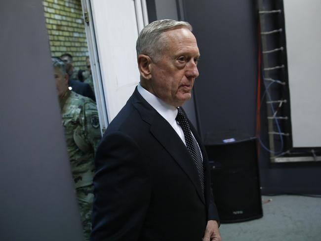 US Defense Secretary James Mattis. Picture: AFP