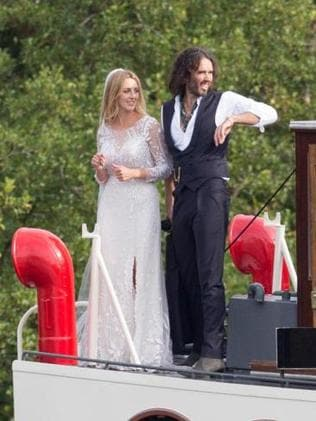 Russell Brand married Laura Gallacher near their home of Henley-on-Thames yesterday. Image - Darren Fletcher - The Sun