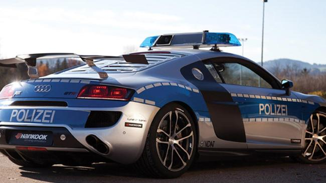Catching criminals on roads without speed limits can only be done with cars like this, we assume.