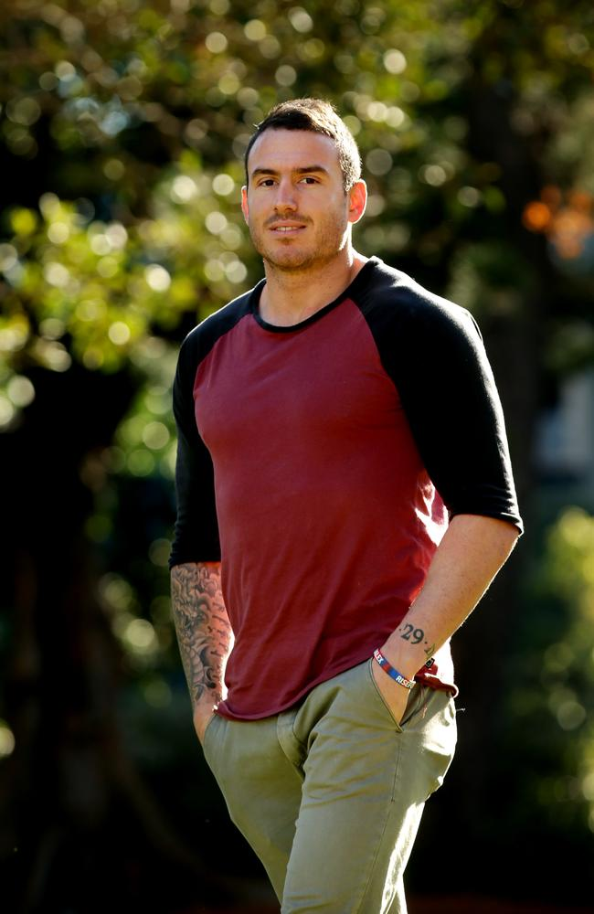 Darius Boyd poses for photos with The Sunday Telegraph during his interview. Picture: Gregg Porteous