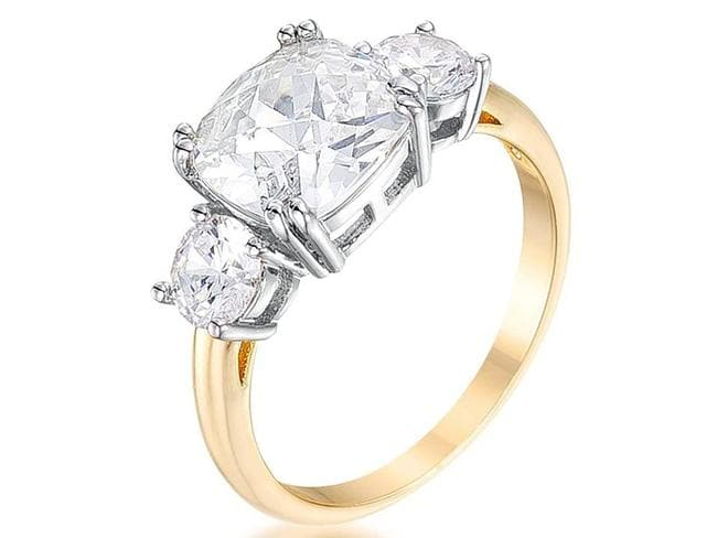 Replica of Meghan Merkle's engagement ring. Picture: Amazon