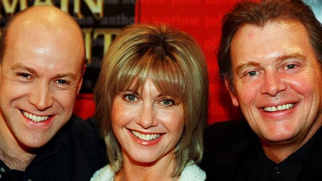 Main event ... Anthony Warlow, Olivia Newton-John and John Farnham in 1998.