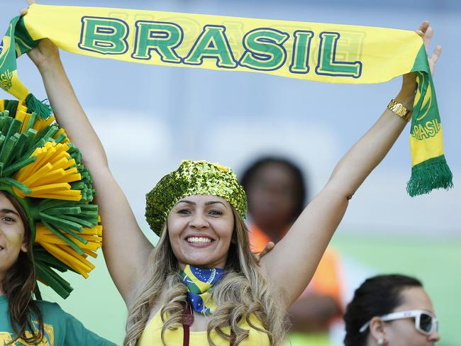 Fans at the Mineirao Stadium.